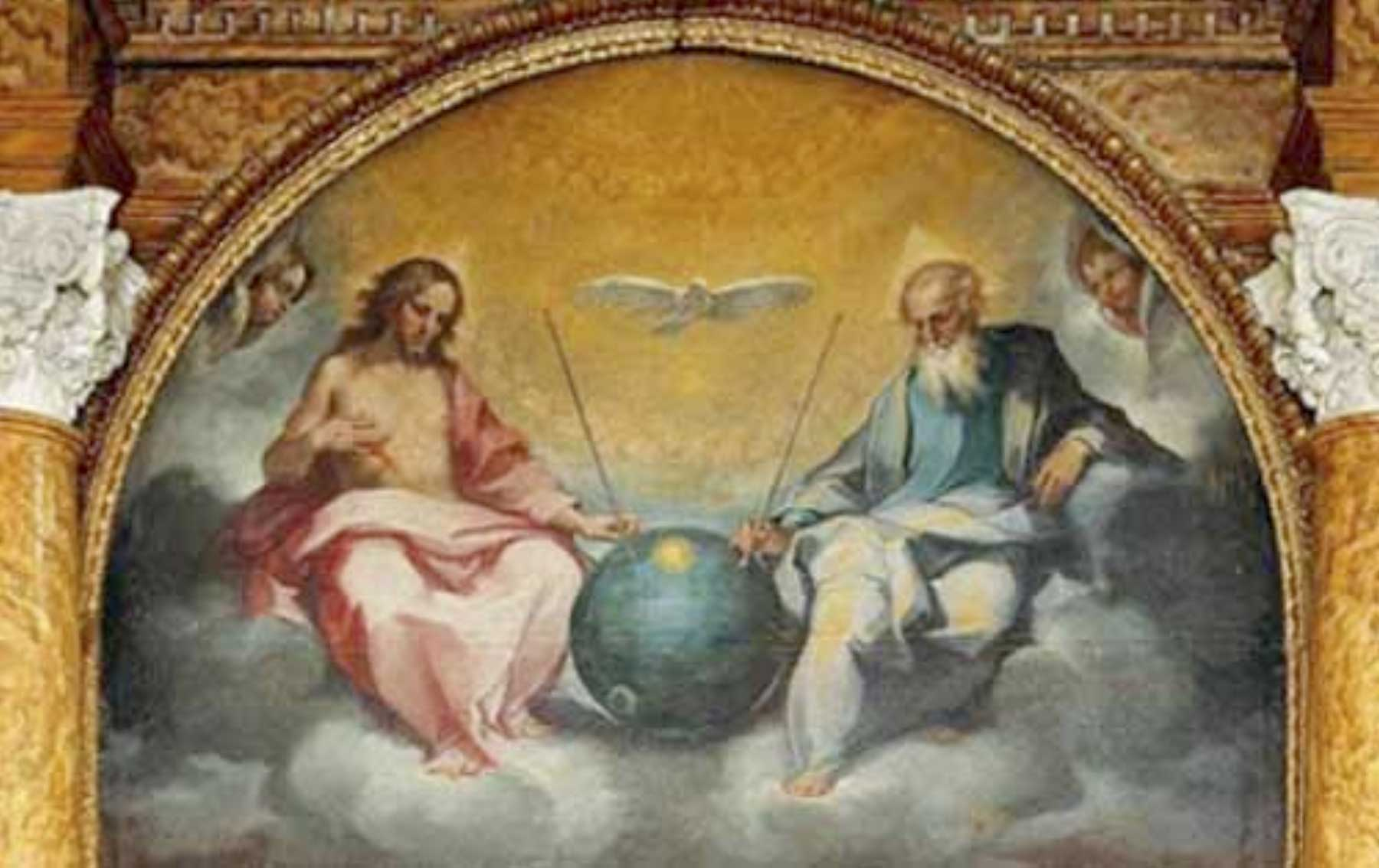 Glorification of the eucharist was painted by bonaventura salimbeni